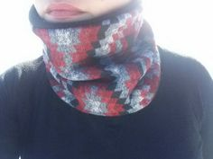 Check out this item in my Etsy shop https://www.etsy.com/listing/265498058/red-black-and-grey-aztec-neck-gaiterneck