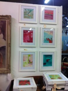 A selection of my small abstract paintings at Lucas Street Antiques Dallas Paul Ashby c2014