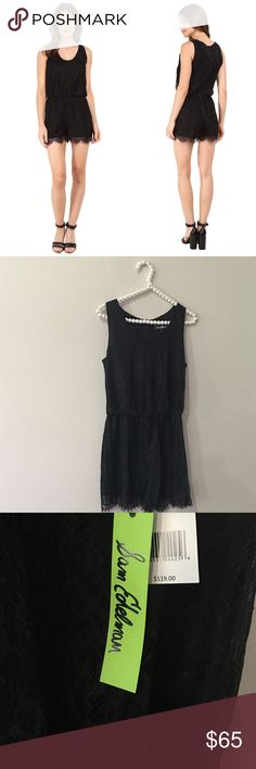 Gorgeous Sam Edelman Black Lace Romper So cute and perfect for any season! Looks awesome layered under a cardigan. Brand new with $119 tags. No trades!! 08716100tmr Sam Edelman Pants Jumpsuits & Rompers