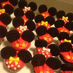 Minnie and Mickey Mouse special cupcakes homemade with love ❤️❤️