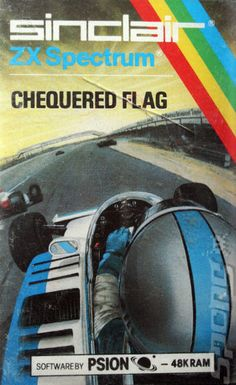 Chequered Flag is a racing video game developed by Steve Kelly for Psion Software Ltd and published by Sinclair Research Ltd in 1983. It was the first driving game published for the ZX Spectrum and one of the first computer car simulators. *wiki #uk1983