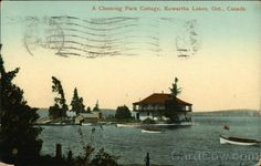 A Chemong Park Cottage Kawartha Lakes, Ontario near Peterborough, Canada.  Postmarked: June 30, 1913.