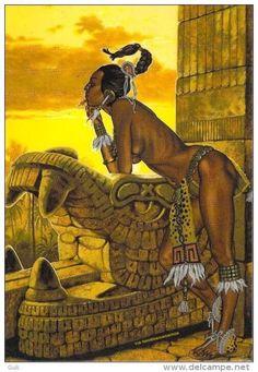 Cultura alternativa mexicana Inka, Aztec Warrior, Native American Artwork, Landsknecht, Mexico Art, Aztec Art, Mesoamerican, Chicano Art, Indigenous Art
