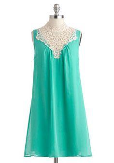 Jubilant in Jade Dress,
