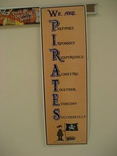 Tons of pirate classroom pictures!
