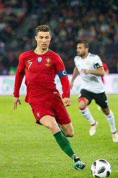 Cristiano Ronaldo Photos - #7 Cristiano Ronaldo of Portugal in action during the International Friendly between Portugal and Egypt at the Letzigrund Stadium on March 23, 2018 in Zurich, Switzerland. - Portugal Vs. Egypt - International Friendly