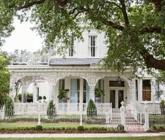 An 1895 Queen Anne Victorian—complete with stained-glass windows, wrought-iron trim, and an adjacent guest cottage—was the ideal setting for our Southern Style Now Designer Showhouse. - Photo: Brittany Ambridge