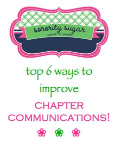 make your sisters feel safe when sharing ideas and offering feedback! a chapter built on trust can improve their communications. <3 BLOG LINK:  http://sororitysugar.tumblr.com/post/61353931068/sorority-101-improving-chapter-communications#notes