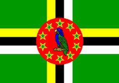 Dominica (Las Antillas o Caribe) Caribbean Flags, Zona Colonial, Flag Photo, Island Nations, Dominique, West Indian, Flags Of The World, National Anthem, Island Life