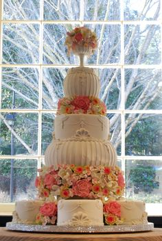 Majestic Wedding cake by Gia's Cakes.