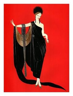 Erte an artist who reflected the Art Deco movement