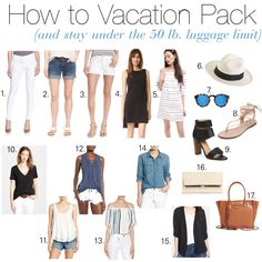 How to Vacation Pack (and stay under the 50 lb. luggage limit!) – Danielle Davis Style