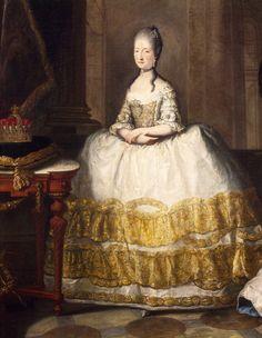 Portrait of Maria Beatrice d'Este (Modena, 1750-Vienna, 1829), ca 1772, Duchess of Massa and Princess of Carrara. Painting by the workshop of Anton von Maron (1733-1808).