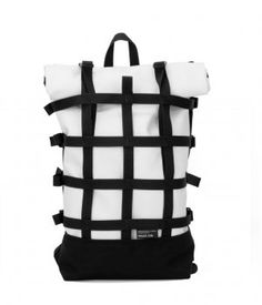Braasi WEBBING WHITE - White urban backpack