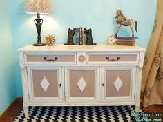 Hometalk :: Thrift Store Buffet Turned Painted TV Console
