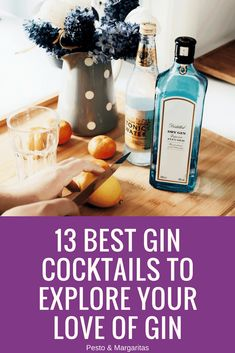 One of the big reasons gin has become so popular is because of gin cocktails. Here are 13 favourite gin cocktail recipes that let you celebrate ginoclock in sty Cocktail Gin, Easy Gin Cocktails, Beste Cocktails, Gin Cocktail Recipes, Gin Based Cocktails, Vintage Cocktails, Winter Cocktails, Gin Fizz, Triple Sec