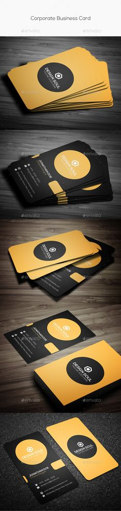 Buy Corporate Business Card by on GraphicRiver. Details Adobe Photoshop Fully Customizable and Editable Fully Layered PSD files CMYK Setting 300 DPI High Resolut. Business Card Maker, Simple Business Cards, Business Card Size, Professional Business Cards, Business Card Design, Cleaning Business Cards, Print Templates, Psd Templates, Corporate Business