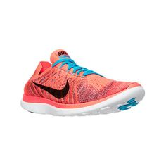 Nike Men's Free 4.0 Flyknit Running Shoes ($120) ❤ liked on Polyvore featuring men's fashion, men's shoes, men's athletic shoes, red, mens running shoes, mens red athletic shoes, nike mens athletic shoes, mens woven shoes and nike mens shoes