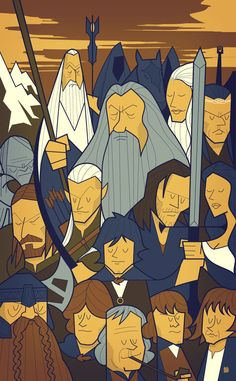 The Fellowship of the Ring Canvas Print by Ale Giorgini