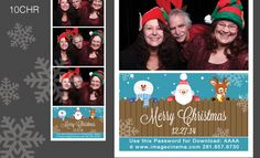 10CHR Merry Christmas from Santa and his friends. A super cute #graphic for your Christmas event. #photobooth  imagecinema.com