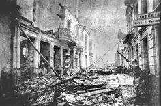 Bogotá Colombia, destruída después de la guerra civil del 9 de abril de 1948 My Heritage, Caribbean, Tan Solo, Painting, Bella, Roots, Ideas, War, Bogota Colombia