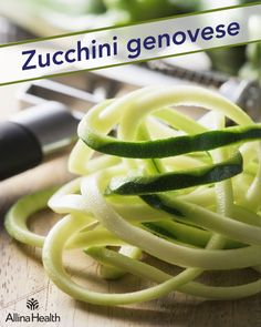 Zucchini genovese - This recipe is low in sodium and high in potassium ― a double whammy for lowering blood pressure naturally! http://www.allinahealth.org/Health-conditions-and-treatments/Eat-healthy/Recipes/Main-dishes/Zucchini-genovese/