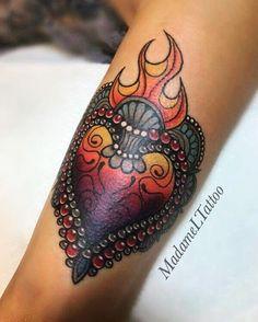 Sacred Heart Tattoo ❤️🔥❤️