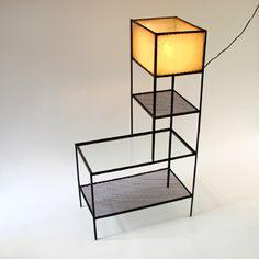// Frederick Weinberg, Shelf/Lamp/Table, 1950s.