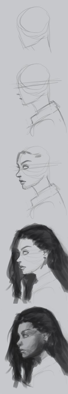 How to draw face side view. Here is another portrait sketch study practice of a female side view. I usually start with basic geometry…