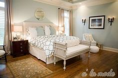this is the color i chose from my paint chip for my bedroom! i love it even more now! comfort gray from sherwin williams. Loving her whole house at alamodemaven.com
