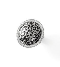 Antiquity Ring - Antique filigree elements feel fresh against a black backdrop in this new heirloom ring. Order your regular lia sophia ring size. $68 #rings