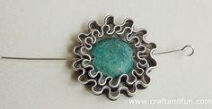 Riciclo Creativo - Craft and Fun: Collana con Pietre Dure e Alluminio Riciclato