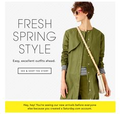 Fresh Spring Style. Easy, excellent outfits ahead. See and Shop The Story.