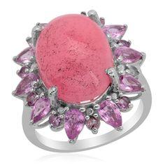 pink jade ring