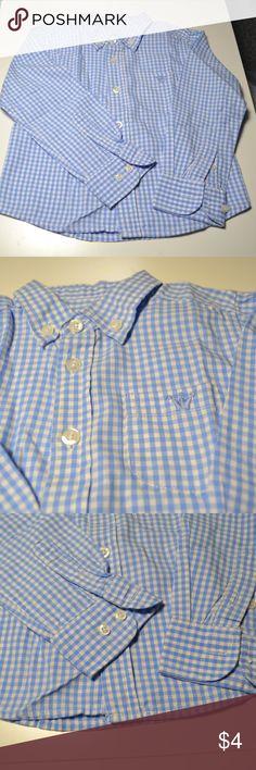 "EPK Baby Boy's Gingham Oxford Blue Shirt Top Size EPK Baby Boy's Gingham Oxford Long Sleeve Button Front Blue Shirt Top Size 23M   100% Cotton Shoulder: 9 1/2"" aprox Armpit to Armpit: 12"" aprox Length: 13"" aprox EPK Shirts & Tops Button Down Shirts"