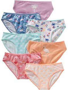 Girls Patterned Bikini 7-Packs