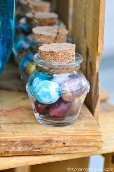 Geologist rock themed birthday party - rock candy (Perhaps you could use this as a wedding favor)