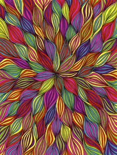 just imagine the options with a pattern like this Colorful Drawings, Art Drawings, Principles Of Art, Leaf Art, Aboriginal Art, Op Art, Abstract Wall Art, Art Pictures, Photos