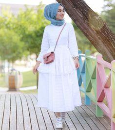 Islamic Fashion, Muslim Fashion, Modest Fashion, Girl Fashion, Fashion Outfits, Fasion, Casual Hijab Outfit, Hijab Chic, Hijab Dress