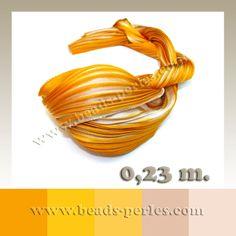 Textil - Shibori Ribbon - Ecru Gold (0,23 metros) - Beads Perles Boutique