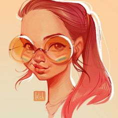 art by Loish Female Character Design, Character Art, Character Illustration, Illustration Art, Painting Illustrations, Art Sketches, Art Drawings, Drawing Faces, Cartoon Drawings
