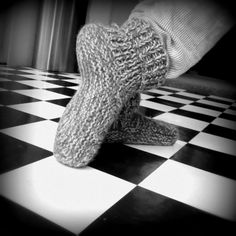 Chaussons en tricot (Taille adulte) - Knitted slippers