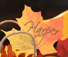 Fall-themed namecards
