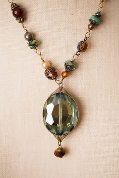 "Anne Vaughan Designs - Crisp Autumn 19-21"" Gemstone and Crystal Focal Necklace, $69.00 (http://www.annevaughandesigns.com/crisp-autumn-gemstone-crystal-chunky-necklace/)"