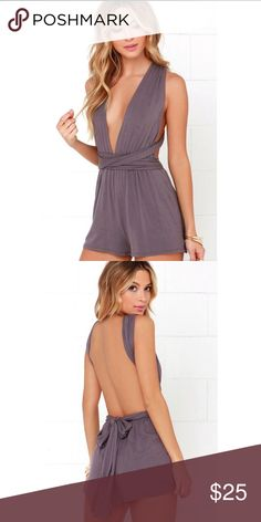 Any way you want it lulus convertible romper New with tags! Never worn!  size small  convertible romper from lulus   You can adjust the straps however you want for different styles it has an open back which is very cute! Lulu's Dresses Backless