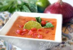Watermelon Gazpacho with Lime
