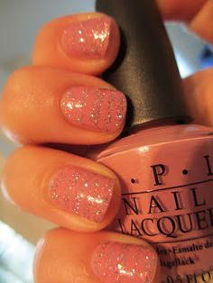 More ideas for glitter. #nailpolish #manicure #nail polish Don't care for the glitter but I do really like the color. Great for fall.