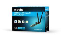 Netis WF2118 300Mbps Wireless PCI Adapter with Detachable 5dBi Antenna | eBay