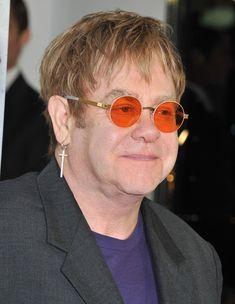 Metal round sunglasses inspired by Elton John. Elton John Sunglasses, Round Sunglasses, Mens Sunglasses, Freaky Deaky, Celebrity Costumes, Celebrity Sunglasses, Celebs, Celebrities, New Music