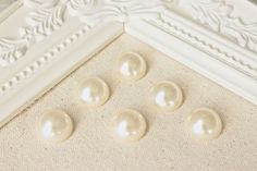 Acrylic Pearl Decorative Thumbtack Ivory Pearl by fluteofthehour